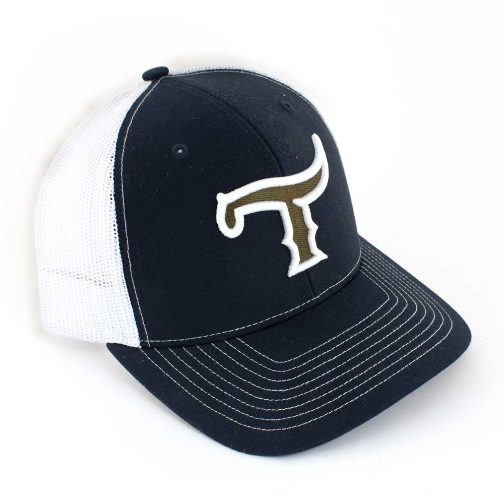 Teskey's T Logo Cap - Navy/White, Green/White Logo TESKEY'S GEAR - Baseball Caps RICHARDSON Teskeys