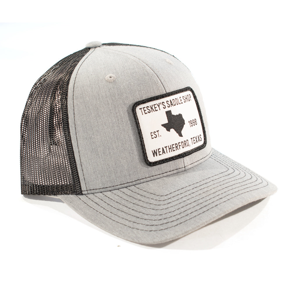 Teskey's 98 Saddle Shop Logo Cap - Heather Grey/Black TESKEY'S GEAR - Baseball Caps RICHARDSON Teskeys