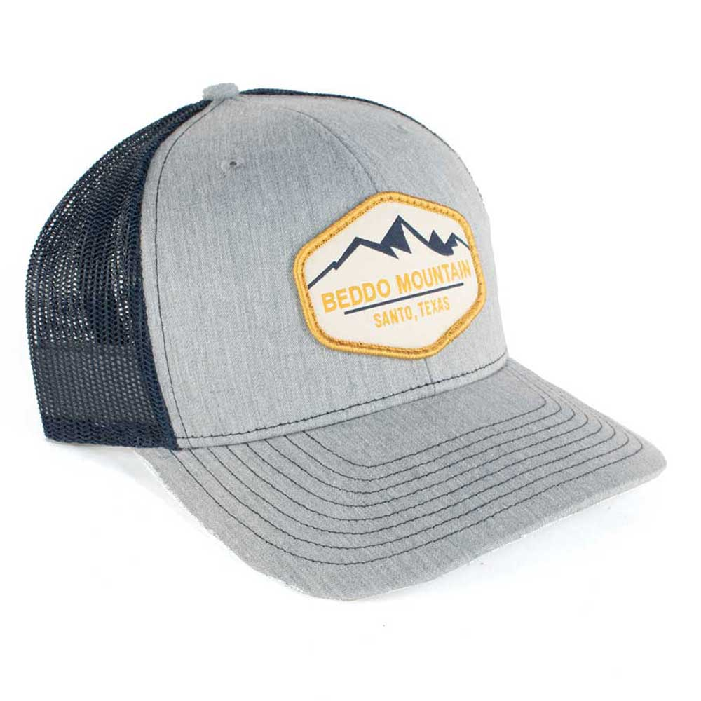 Beddo Mountain Logo Cap - Heather Grey & Navy TESKEY'S GEAR - Baseball Caps RICHARDSON Teskeys