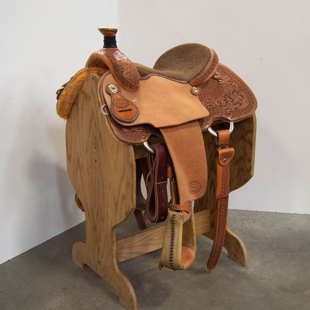"14"" TESKEY'S ROPING SADDLE"
