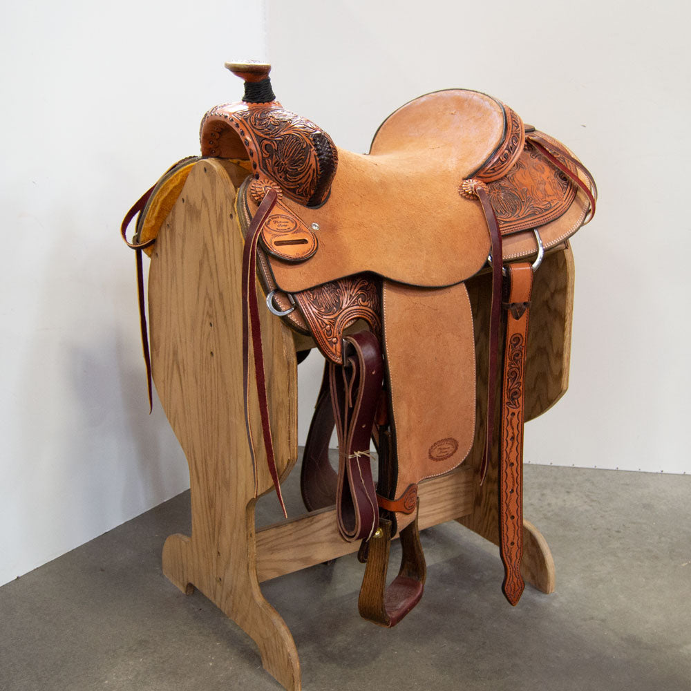 "15"" TRENT WARD RANCH ROPING SADDLE"
