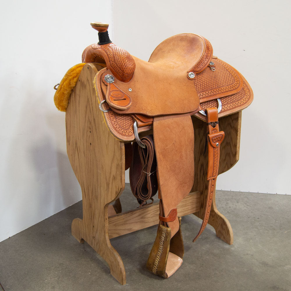 "14.5"" TESKEY'S ROPING SADDLE Saddles - New Saddles - ROPER Teskey's Teskeys"