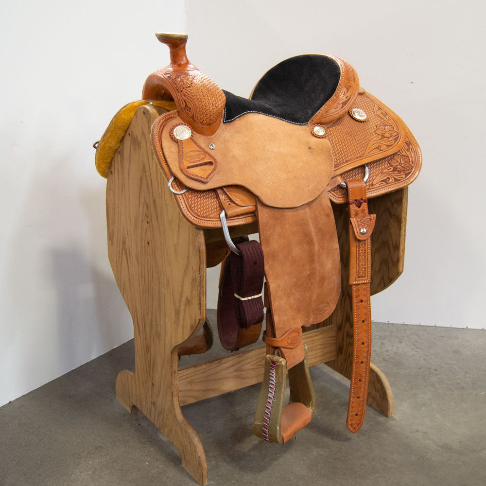 "13.5"" TESKEY'S COMPETITION SERIES ROPING SADDLE"