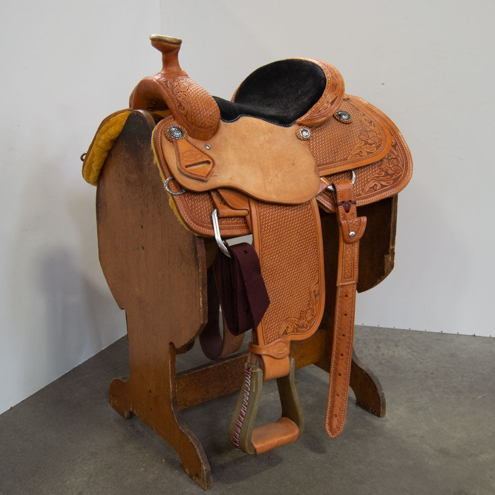 "12.5"" TESKEY'S COMPETITION SERIES ROPING SADDLE Saddles - New Saddles - ROPER Teskey's Teskeys"