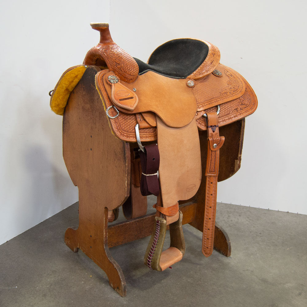 "14.5"" TESKEY'S COMPETITIION SERIES ROPING SADDLE Saddles - New Saddles - ROPER Teskey's Teskeys"