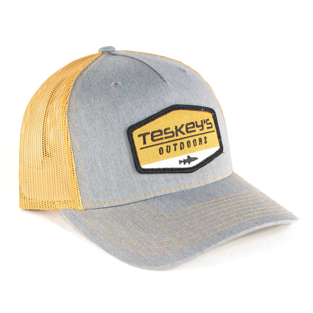 Teskey's Outdoor Print Patch Cap - Heather Grey/Gold TESKEY'S GEAR - Baseball Caps RICHARDSON Teskeys
