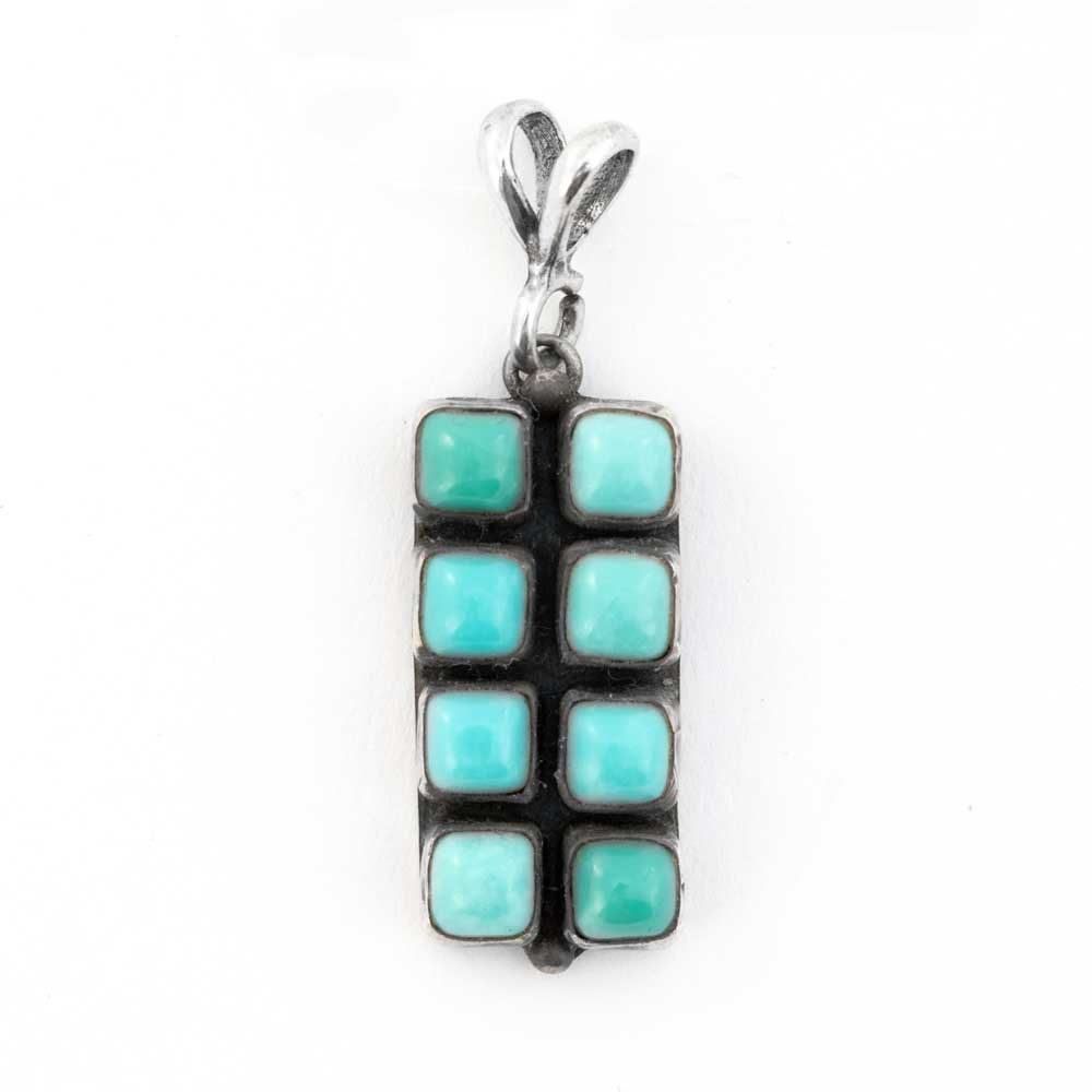 8 Stone Turquoise Sterling Silver Pendant WOMEN - Accessories - Jewelry - Pendants SUNWEST SILVER Teskeys