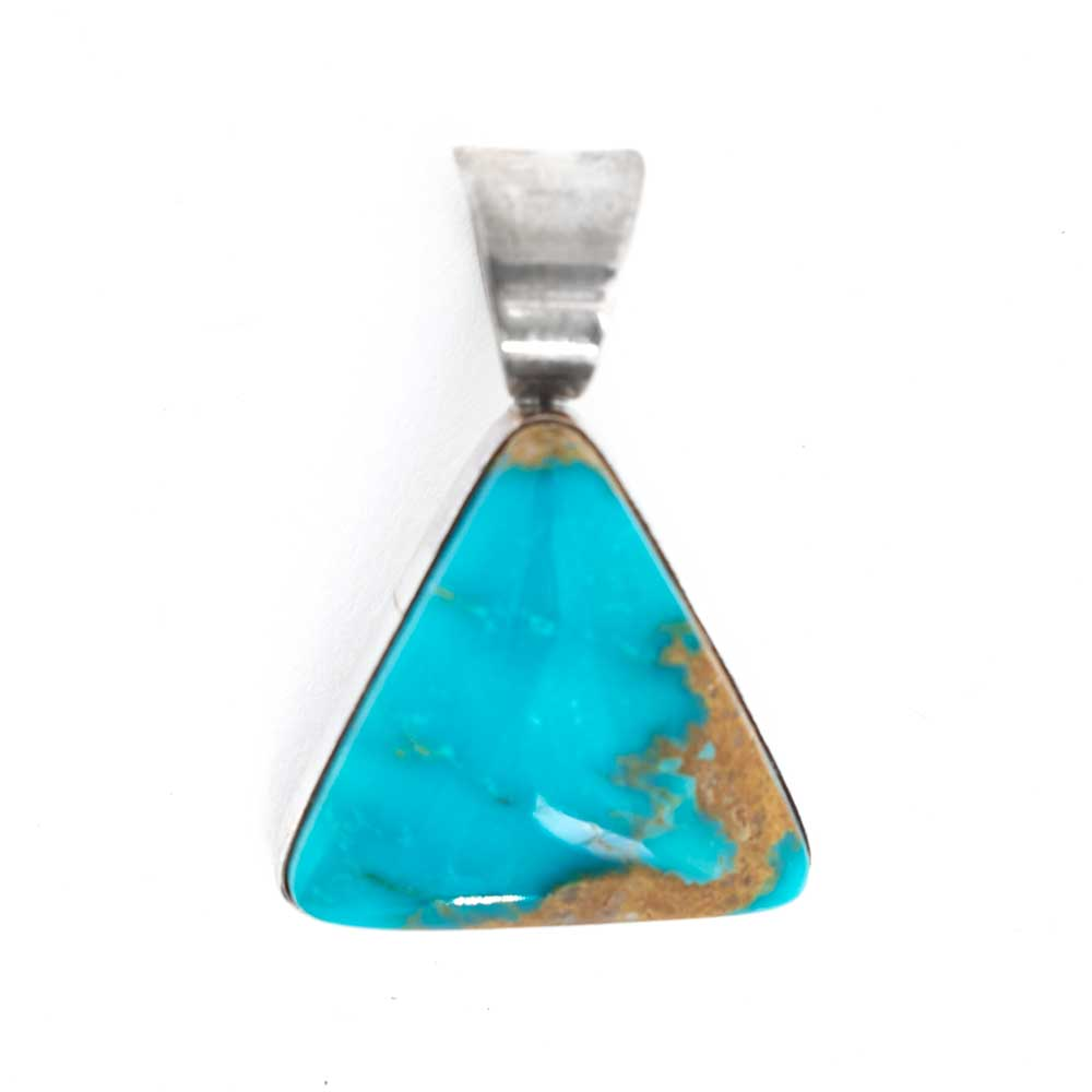 Triangle Turquoise Pendant WOMEN - Accessories - Jewelry - Pendants QUE' CHULA COLLECTION Teskeys