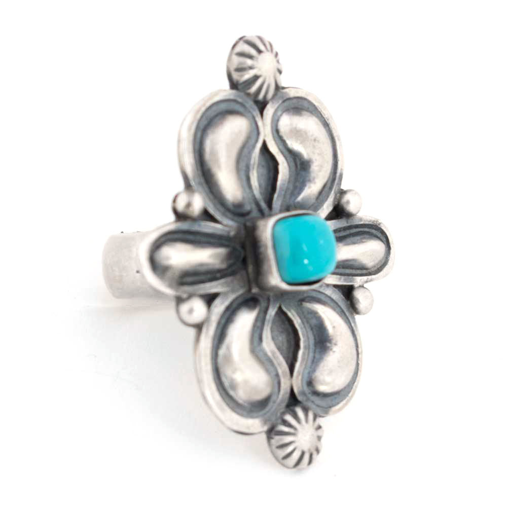 Square Turquoise Stone Ring WOMEN - Accessories - Jewelry - Rings SUNWEST SILVER Teskeys