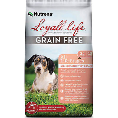Loyall Life Grain Free All Life Stages Salmon with Sweet Potato Recipe FARM & RANCH - Animal Care - Pets - Accessories Nutrena Teskeys