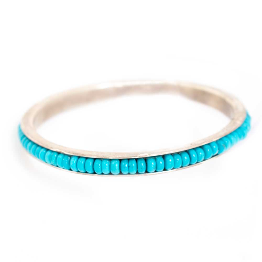 Turquoise and Sterling Silver Bangle Bracelet WOMEN - Accessories - Jewelry - Bracelets AL ZUNI Teskeys