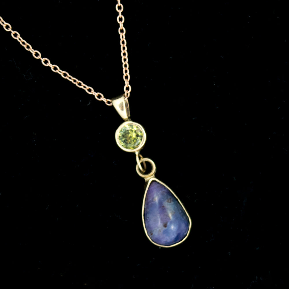Comstock Heritage Gemmy Sugilite and Green Sapphire Necklace WOMEN - Accessories - Jewelry - Necklaces COMSTOCK HERITAGE Teskeys