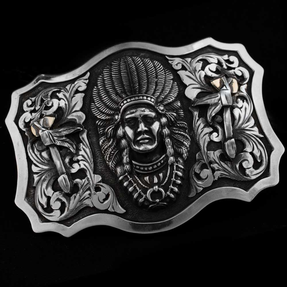 Comstock Heritage Sterling Silver Heraldic Ute Chieftain Buckle ACCESSORIES - Additional Accessories - Buckles COMSTOCK HERITAGE Teskeys