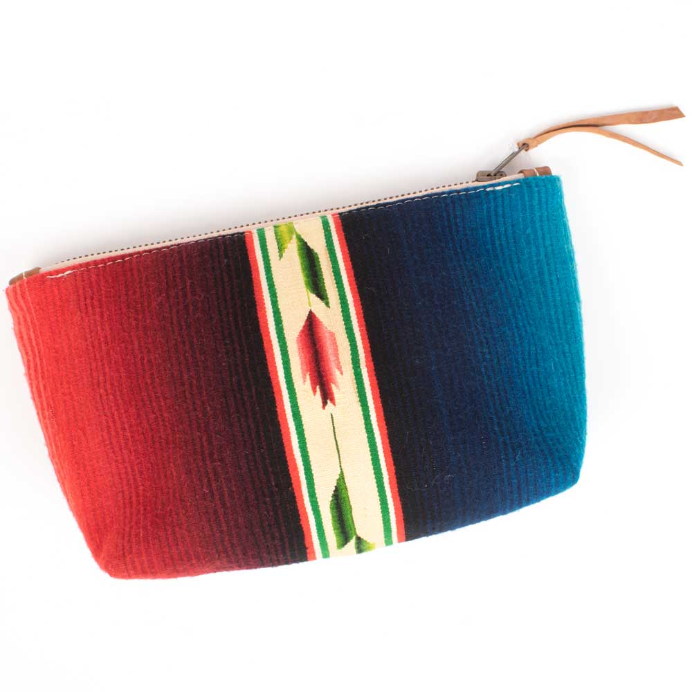 Totem Serape Makeup Pouch WOMEN - Accessories - Handbags - Clutches & Pouches TOTEM SALVAGED Teskeys