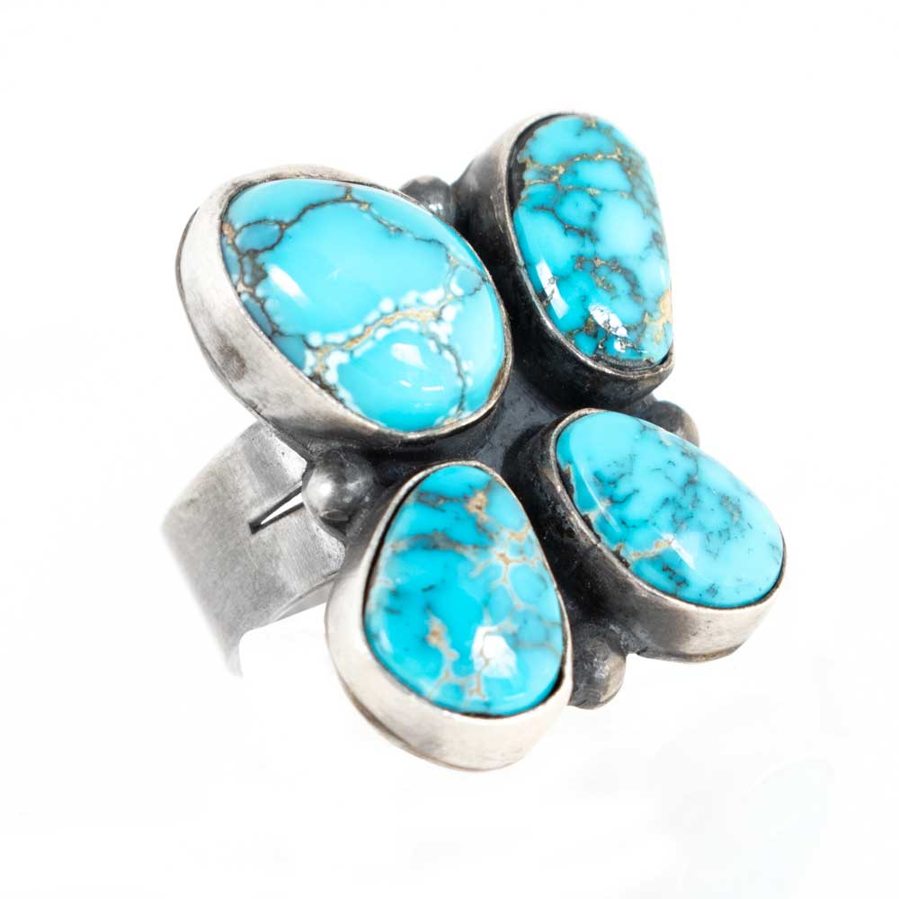 4 Stone Turquoise Ring WOMEN - Accessories - Jewelry - Rings SUNWEST SILVER Teskeys