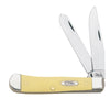 Yellow Handle SS Trapper Knives - Knives - Case Case Teskeys