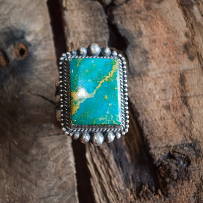 Elegant Ranch Al Somers Turquoise Tine Size 11 WOMEN - Accessories - Jewelry - Rings Teskeys Teskeys