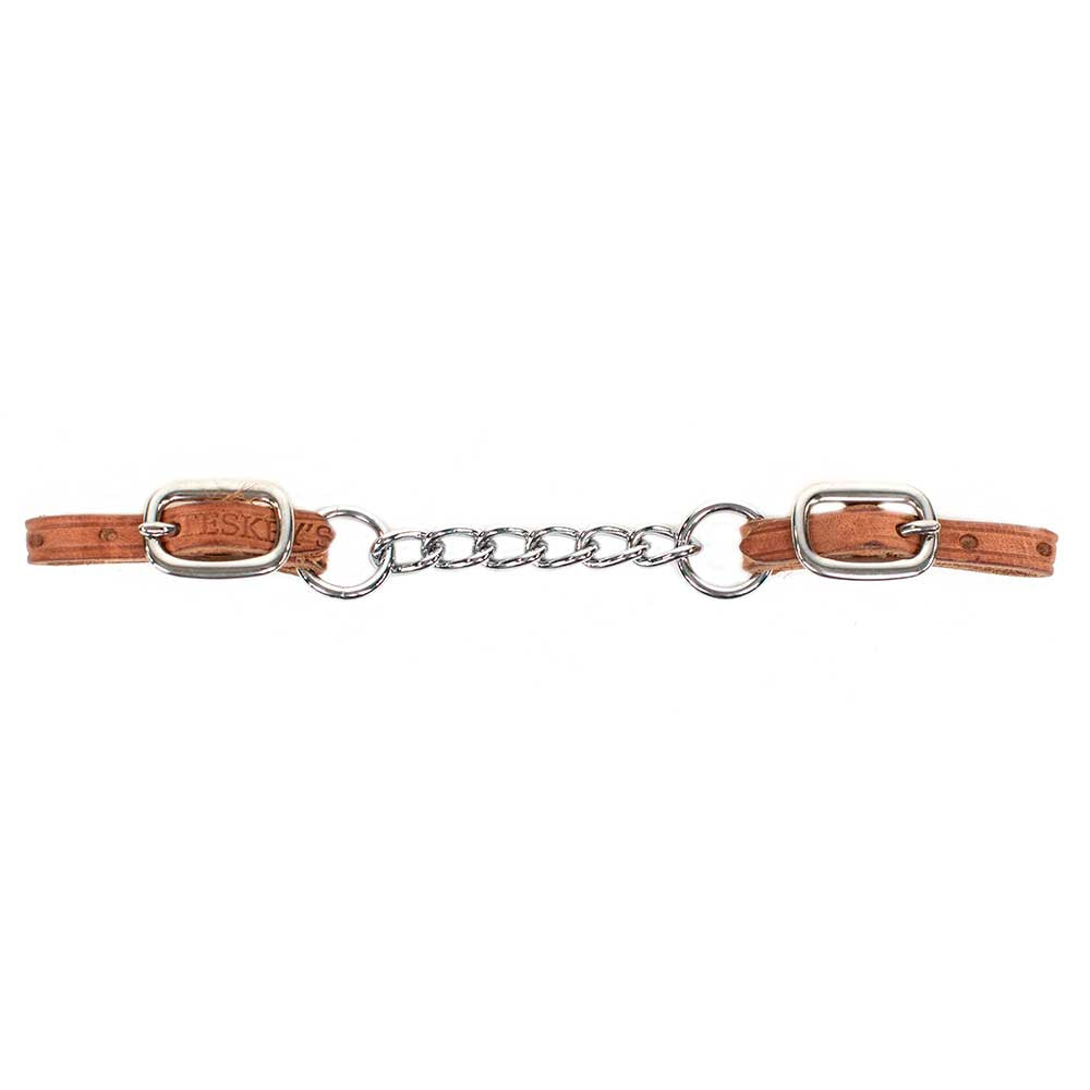 "* Hermann Oak Leather* 6 Link Chain* 1/2"" Stainless Steel Buckle Tack - Bits, Spurs & Curbs Teskeys Teskeys"