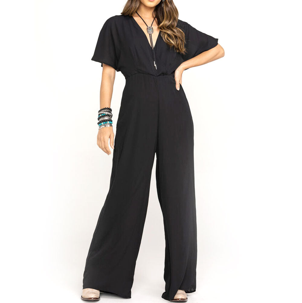 Stetson Women's Black Short Sleeve Jumpsuit WOMEN - Clothing - Jumpsuits & Rompers STETSON Teskeys