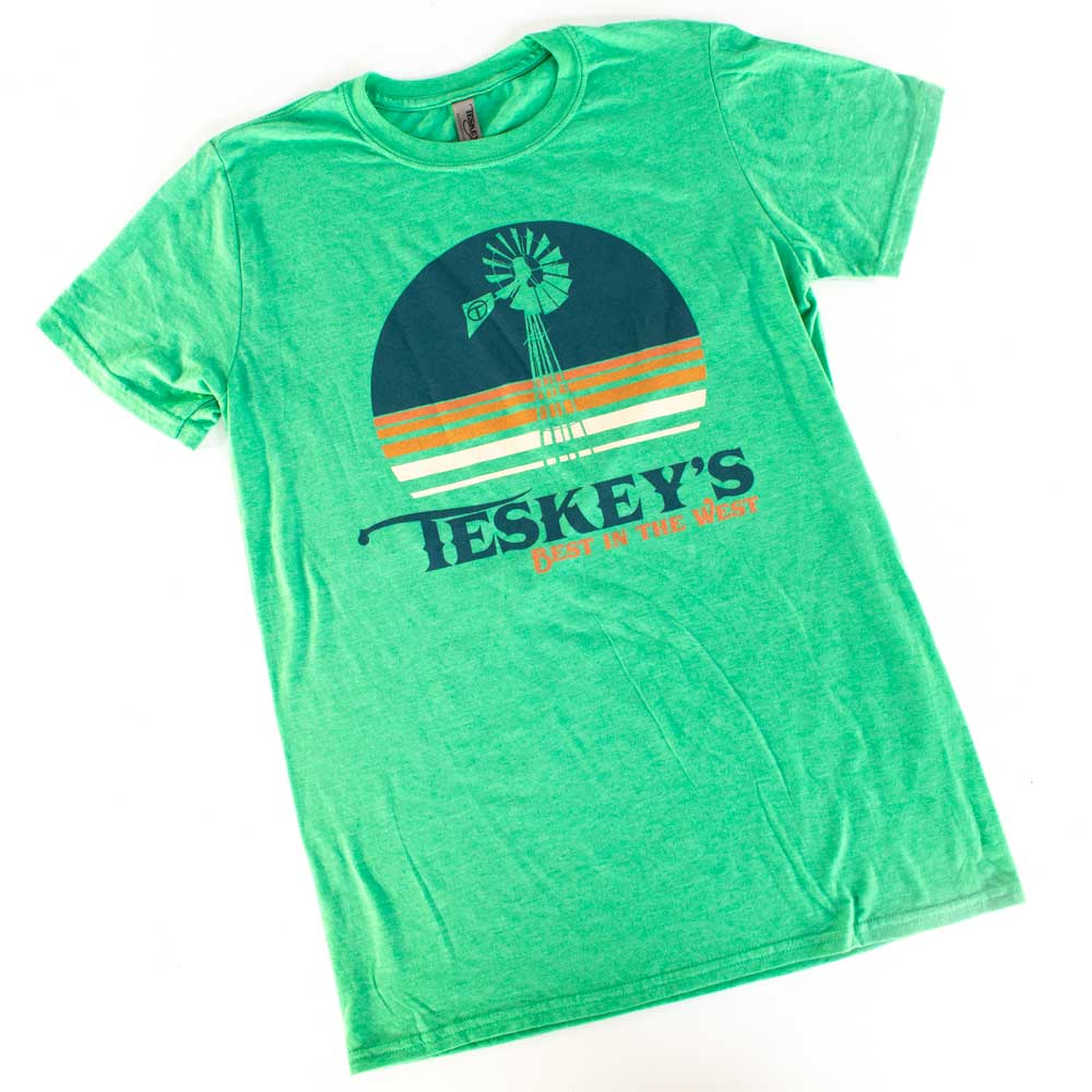 Teskey's Windmill Tee - Heather Irish Green TESKEY'S GEAR - SS T-Shirts OURAY SPORTSWEAR Teskeys