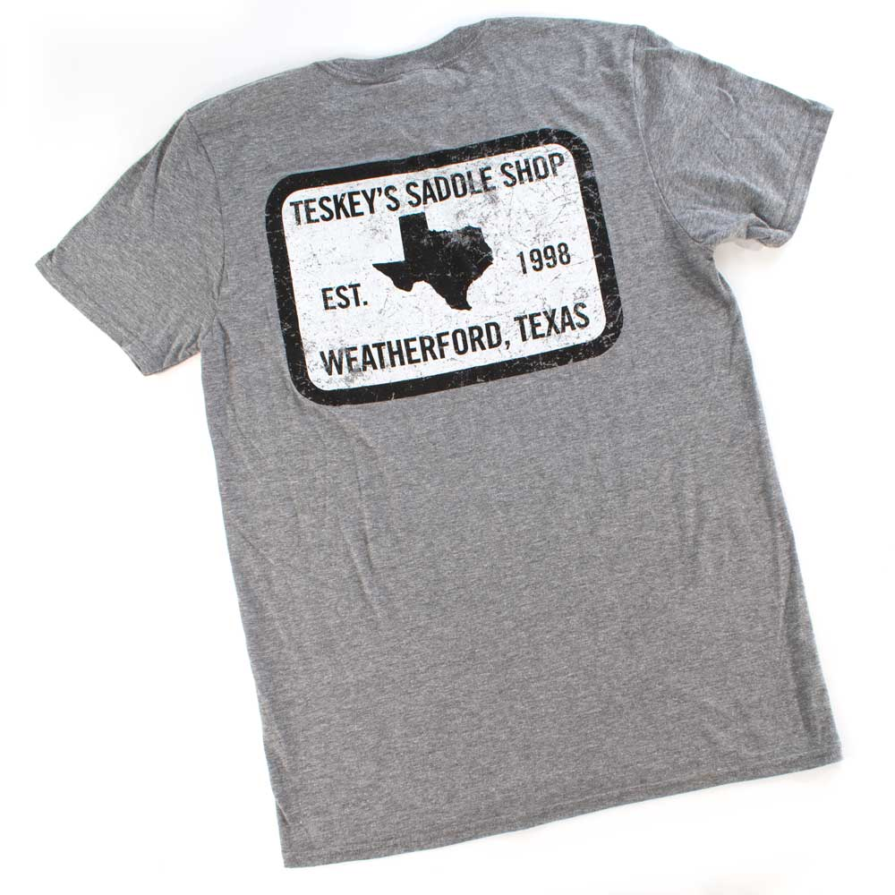 Teskey's 98 Saddle Shop Tee - Heather Grey TESKEY'S GEAR - SS T-Shirts OURAY SPORTSWEAR Teskeys