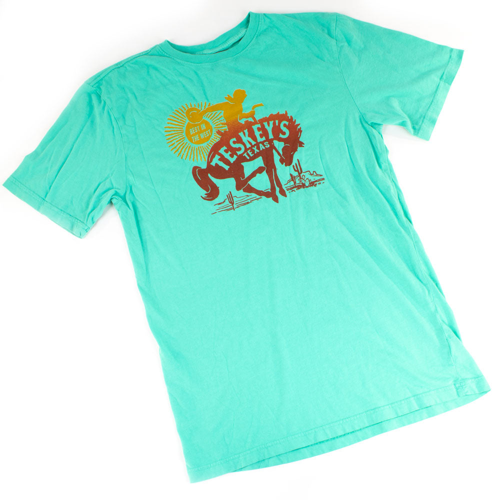 Teskey's Bronc Catalina Green Short Sleeve Tee TESKEY'S GEAR - SS T-Shirts OURAY SPORTSWEAR Teskeys