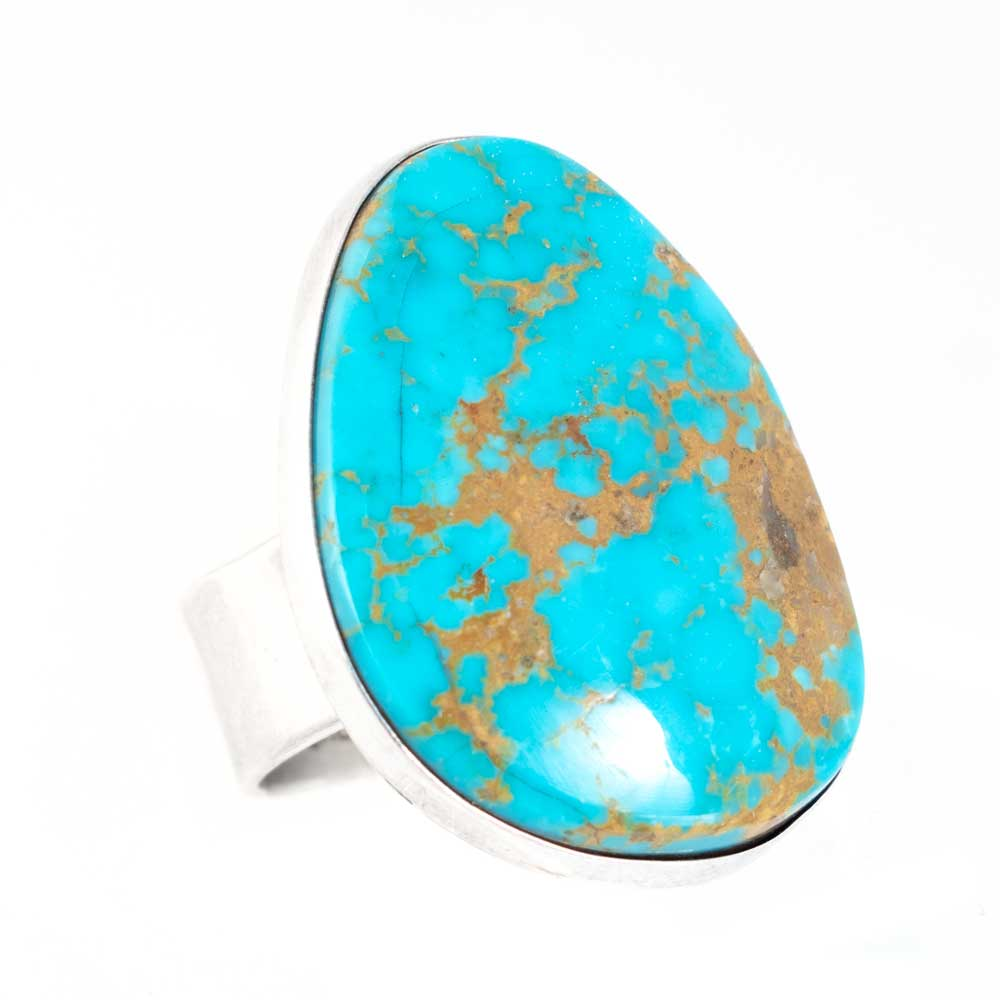 Large Turquoise Stone Ring WOMEN - Accessories - Jewelry - Rings QUE' CHULA COLLECTION Teskeys