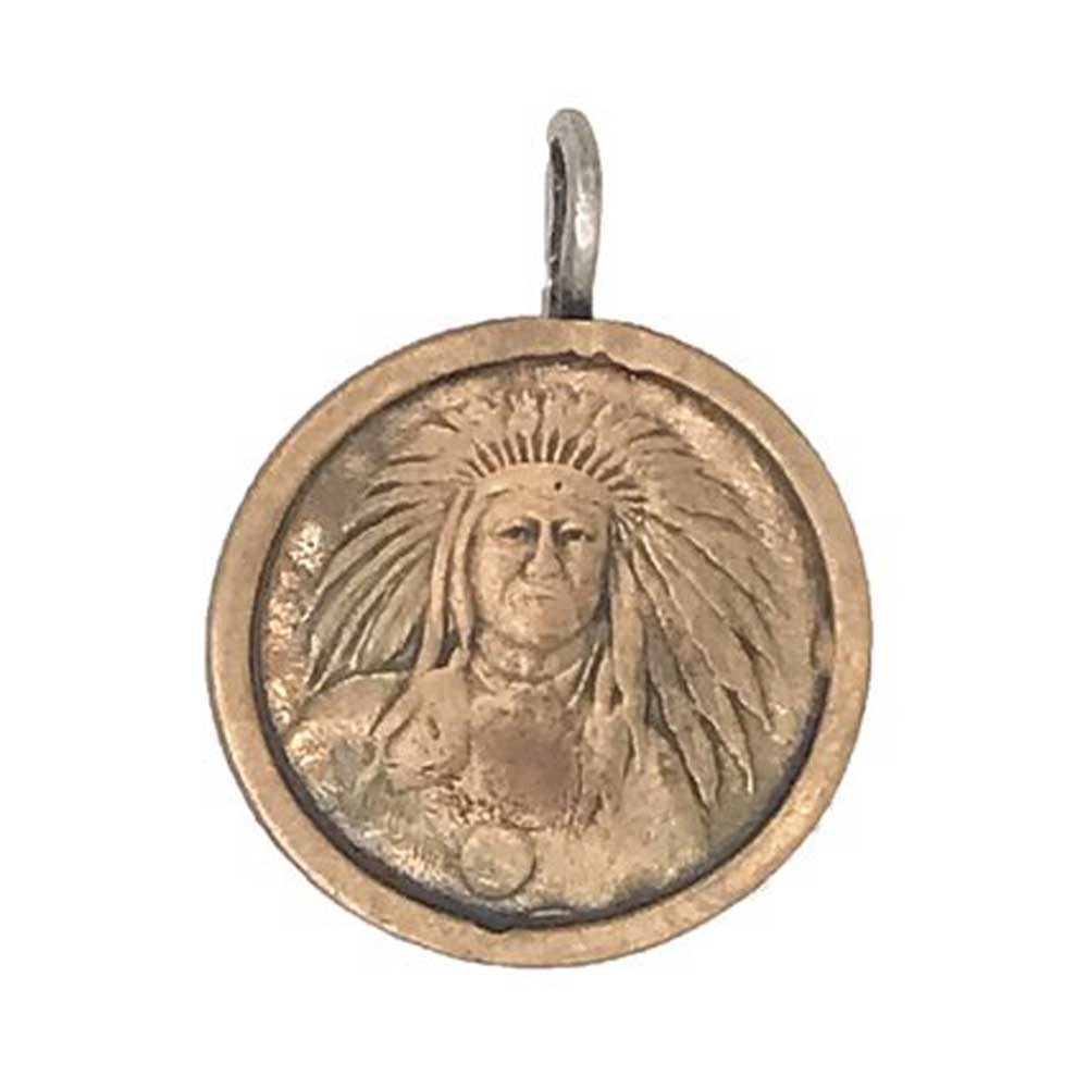 Love Tokens Bronze Chief Pendant WOMEN - Accessories - Jewelry - Pendants LOVE TOKENS Teskeys