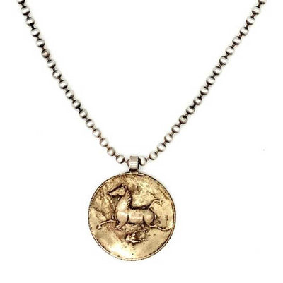 Love Tokens Bronze Horse Pendant Necklace WOMEN - Accessories - Jewelry - Necklaces LOVE TOKENS Teskeys