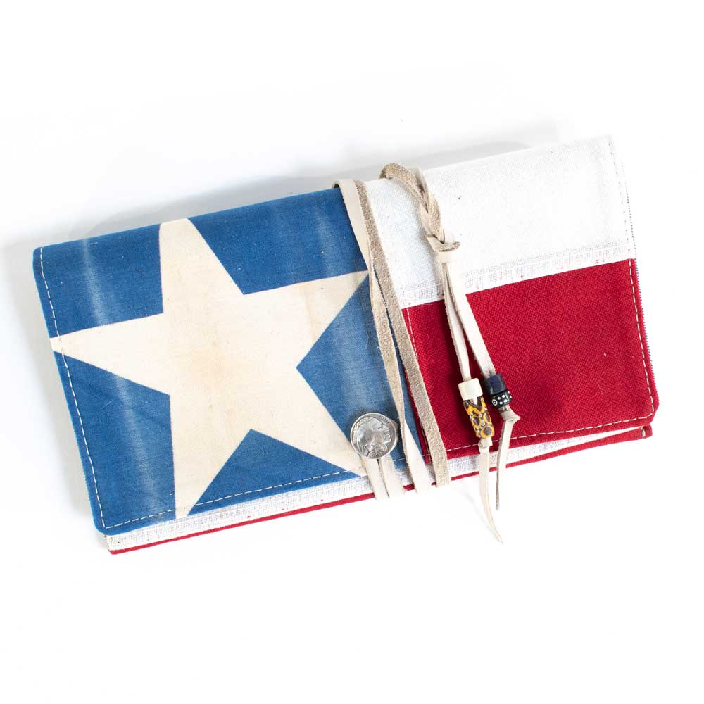 Texas Flag Clutch WOMEN - Accessories - Handbags - Wallets TOTEM SALVAGED Teskeys
