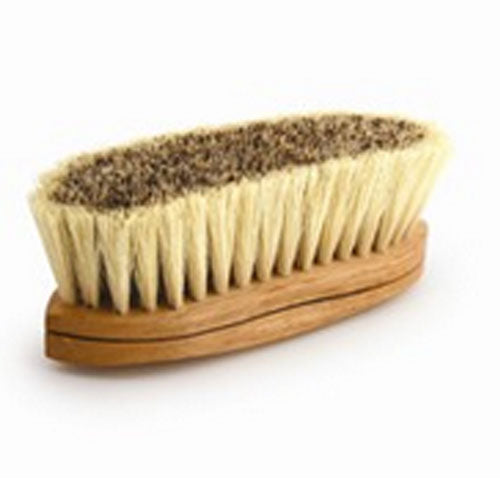 Legends Caliente Union Fiber Center/White Tampico Border Curved-Back Farm & Ranch - Animal Care - Equine - Grooming - Brushes & combs Desert Equestrian Teskeys