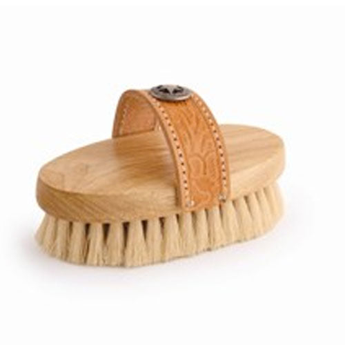 Legends White Tampico Small Western-Style Oval Body Grooming Brush - Cowgirl Farm & Ranch - Animal Care - Equine - Grooming - Brushes & combs Desert Equestrian Teskeys