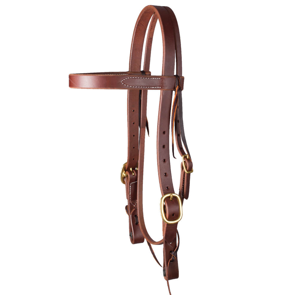 "Teskey's 1"" Heavy Oil Harness Headstall Tack - Headstalls - Browband Teskey's Teskeys"