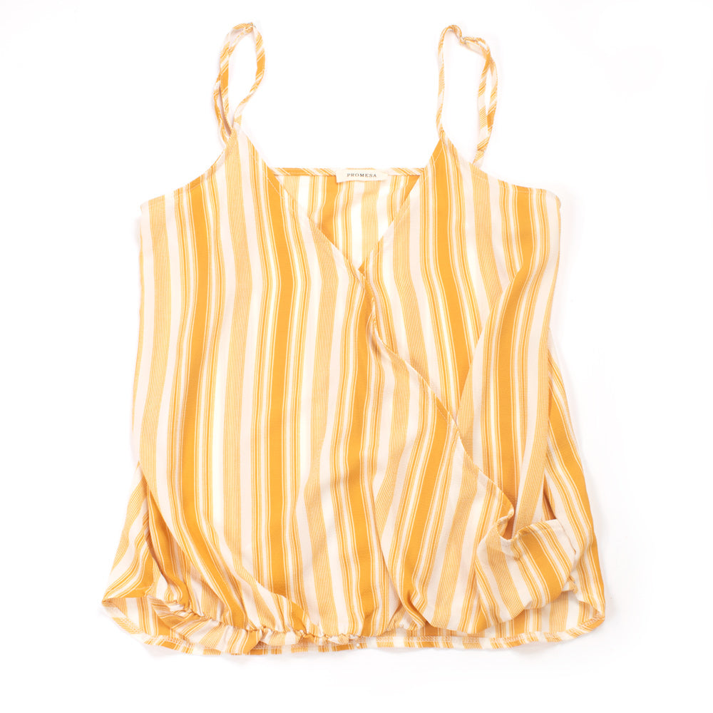 Striped Crossover Cami WOMEN - Clothing - Tops - Sleeveless PROMESA USA Teskeys