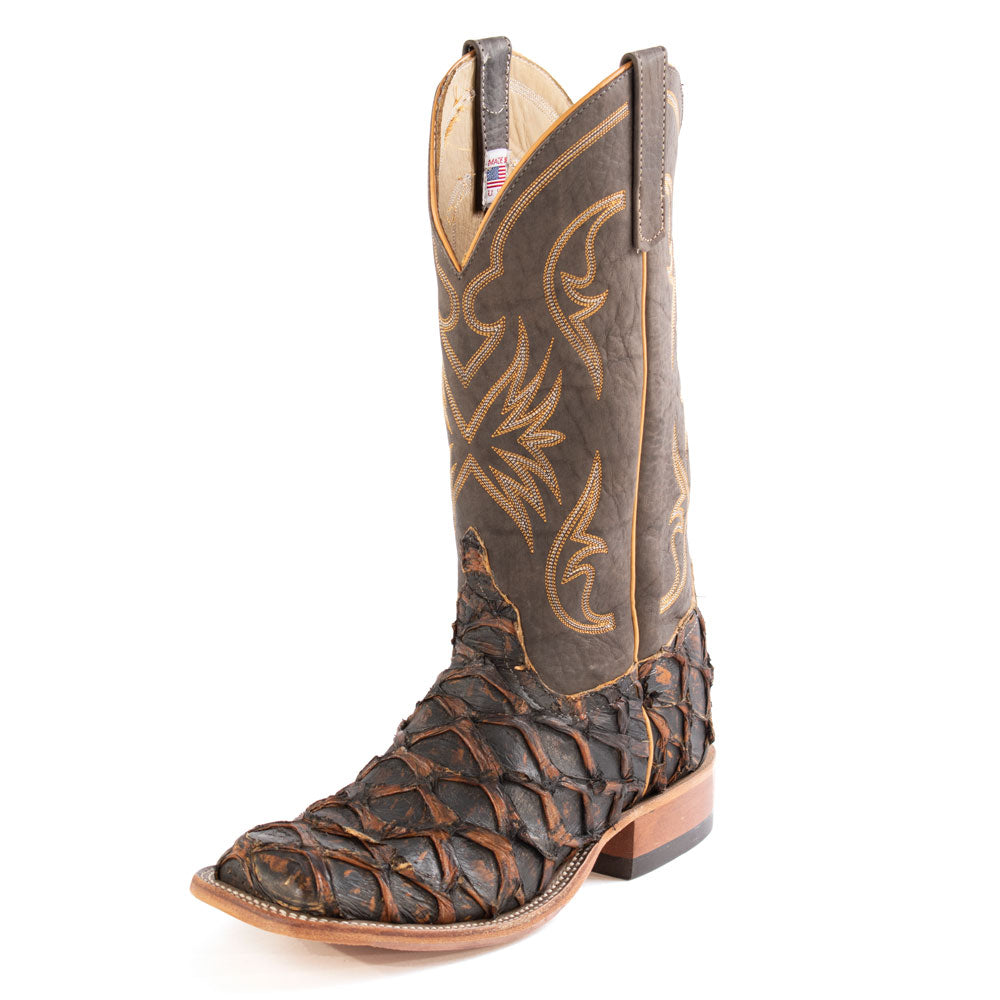 Anderson Bean Rusty Crush Big Bass Western Boot MEN - Footwear - Exotic Western Boots ANDERSON BEAN BOOT CO. Teskeys