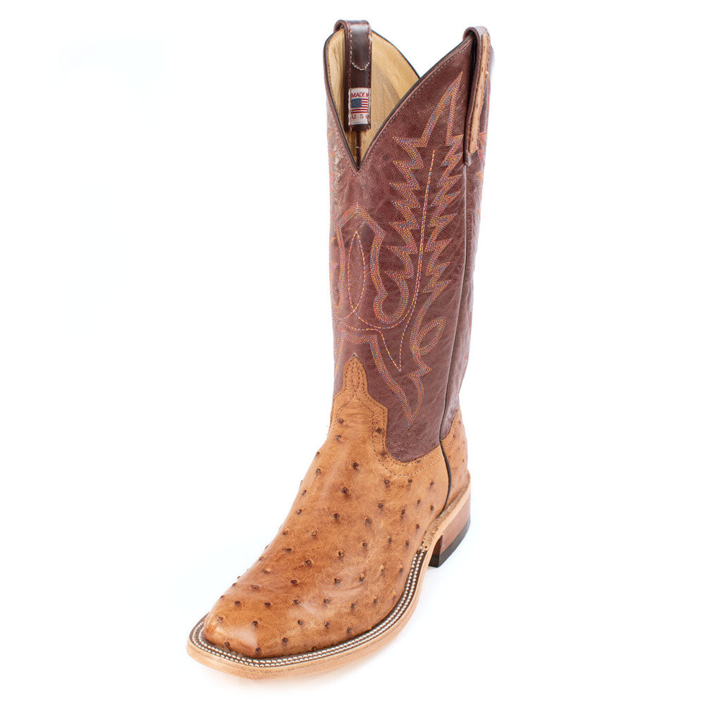 Anderson Bean Full Quill Ostrich Boot MEN - Footwear - Exotic Western Boots ANDERSON BEAN BOOT CO. Teskeys