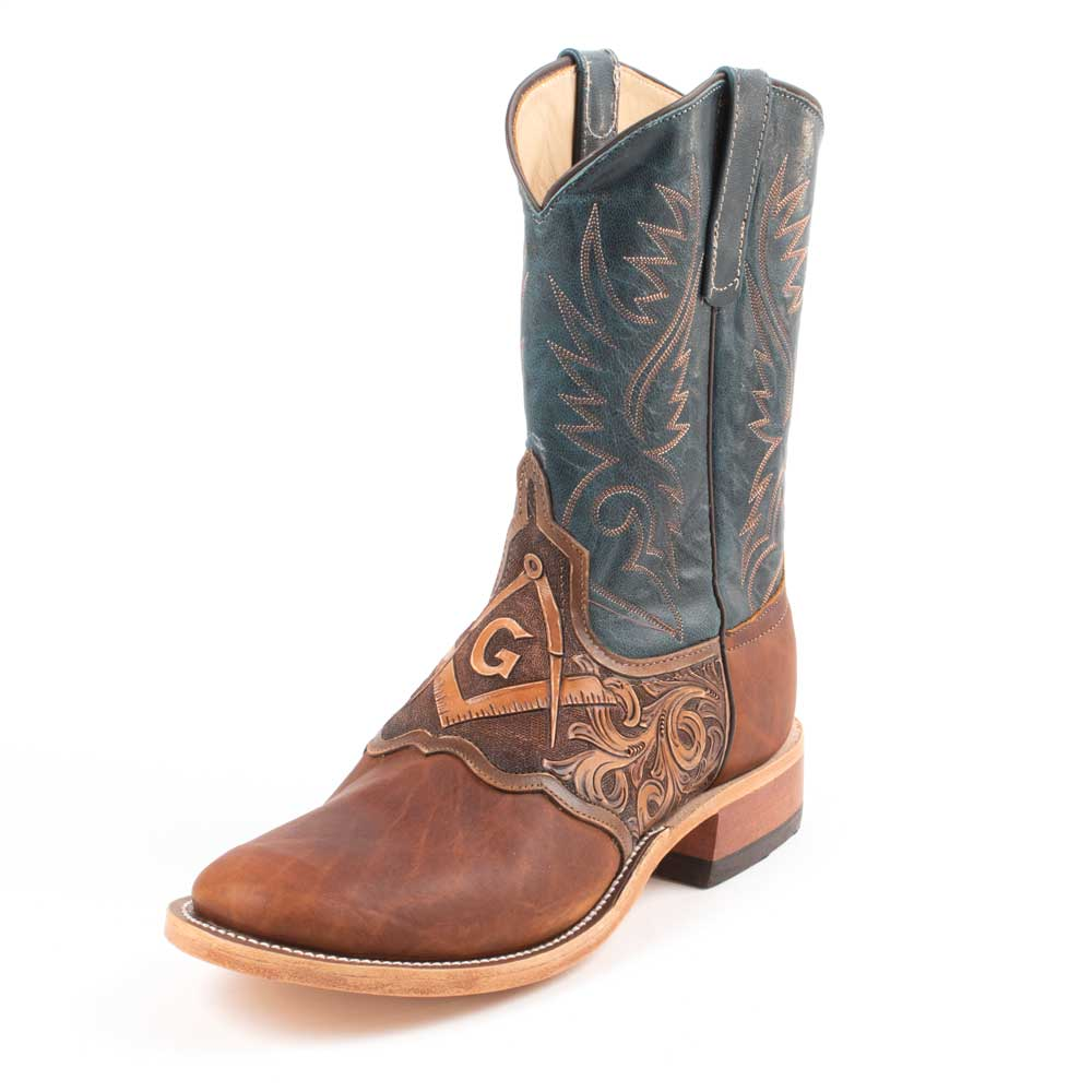 "Freemason 10"" Round Toe Boot MEN - Footwear - Western Boots ANDERSON BEAN BOOT CO. Teskeys"
