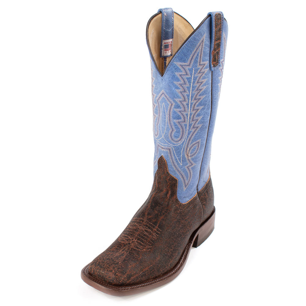 Anderson Bean Chocolate Elephant Boot MEN - Footwear - Exotic Western Boots ANDERSON BEAN BOOT CO. Teskeys