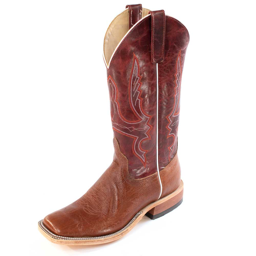 Anderson Bean Brandy Lux Smooth Ostrich Boot MEN - Footwear - Exotic Western Boots ANDERSON BEAN BOOT CO. Teskeys