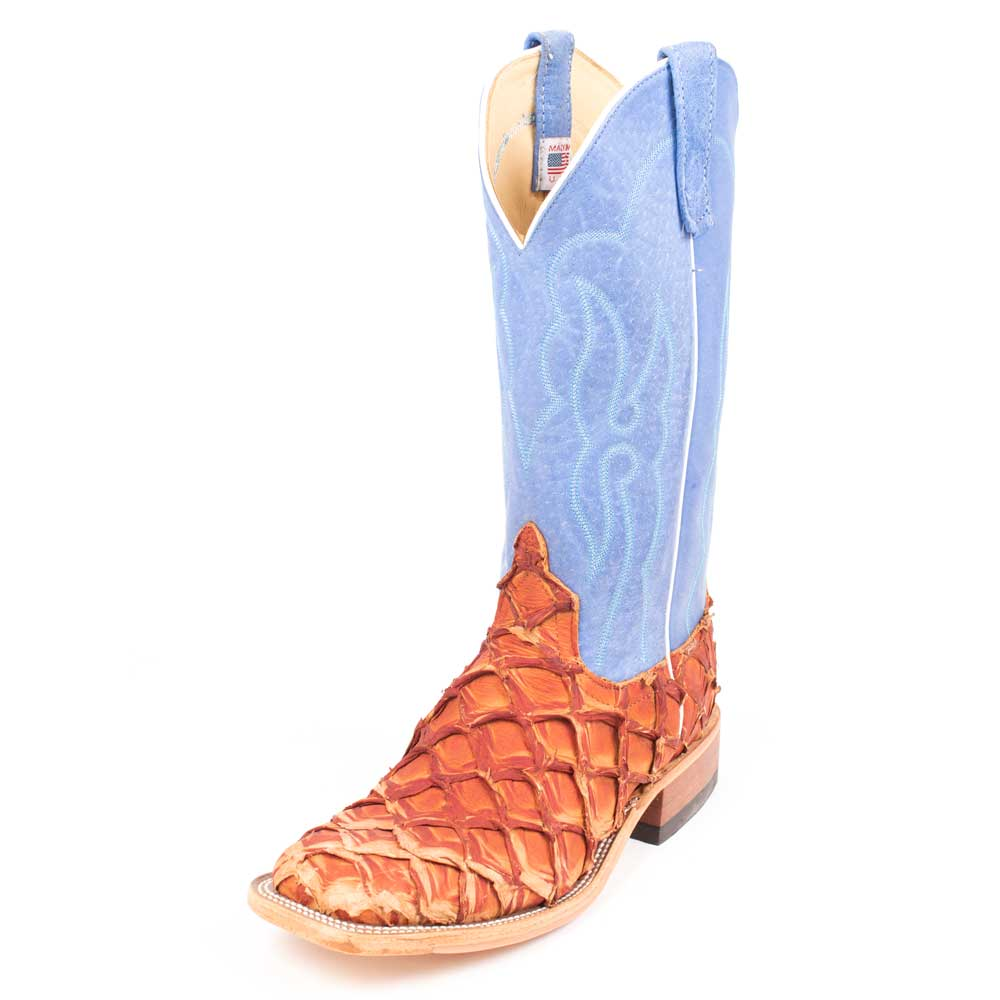 Anderson Bean Cognac Big Bass Boot MEN - Footwear - Exotic Western Boots ANDERSON BEAN BOOT CO. Teskeys