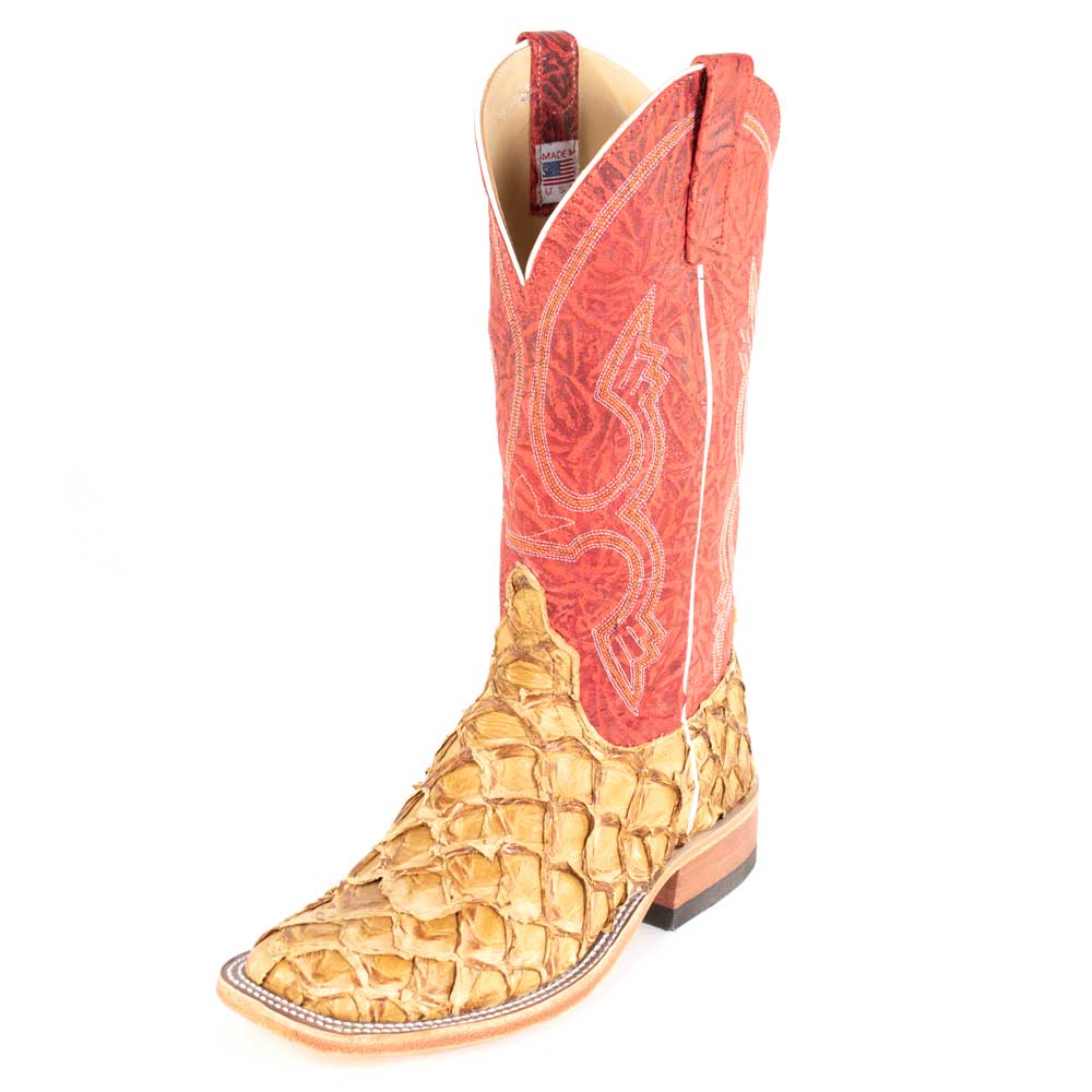 Anderson Bean Antique Saddle Big Bass Boot MEN - Footwear - Exotic Western Boots ANDERSON BEAN BOOT CO. Teskeys
