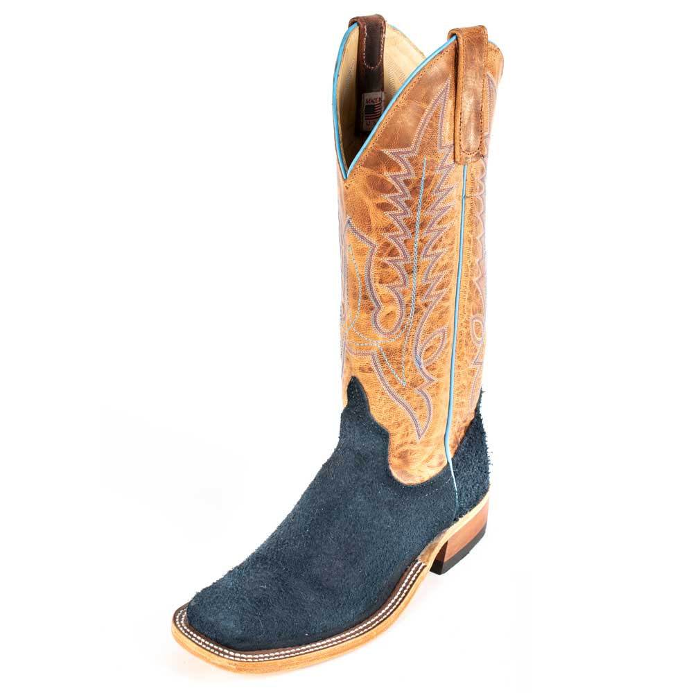 Anderson Bean Navy Navajo Bison Boot MEN - Footwear - Western Boots ANDERSON BEAN BOOT CO. Teskeys