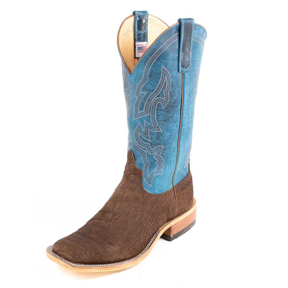 Anderson Bean Chocolate Danube Gator Boot MEN - Footwear - Exotic Western Boots ANDERSON BEAN BOOT CO. Teskeys