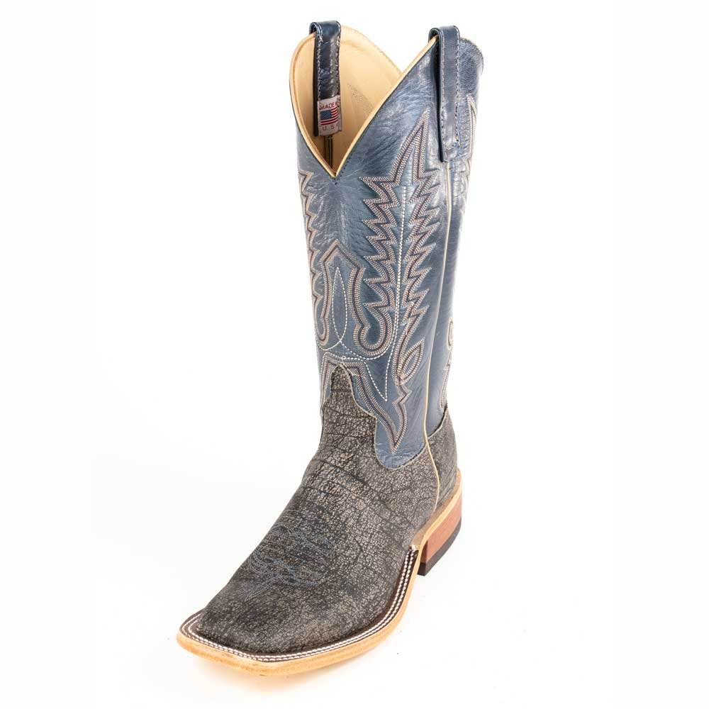 Anderson Bean Grey Safari Buffalo Boot MEN - Footwear - Exotic Western Boots ANDERSON BEAN BOOT CO. Teskeys