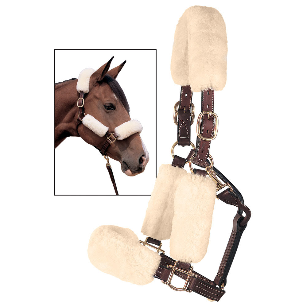 Fleece Halter Cover by Weaver Tack - Halters & Leads Weaver Teskeys