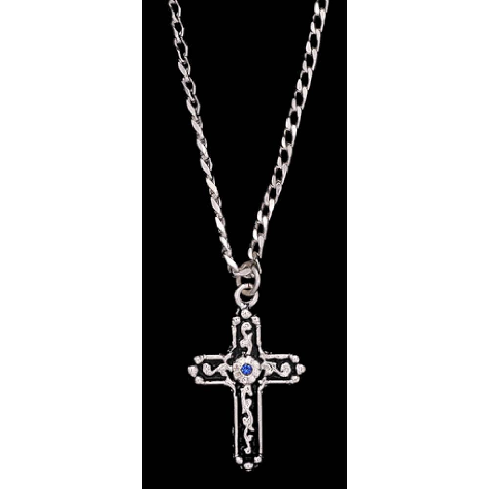 Men's Silver Cross Necklace MEN - Accessories - Jewelry & Cuff Links M&F WESTERN PRODUCTS Teskeys