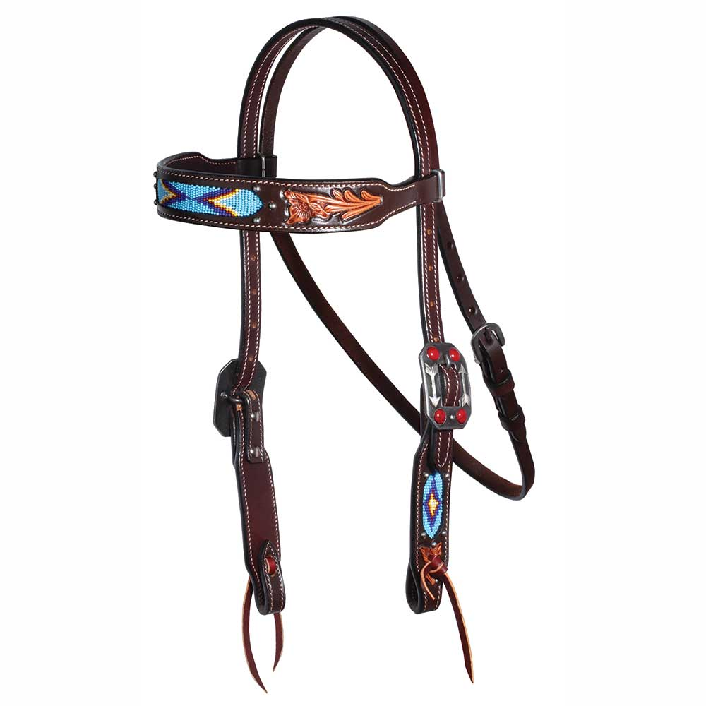 Professional's Choice Dark Beaded Collection Browband Headstall Tack - Headstalls - Browband Professional's Choice Teskeys