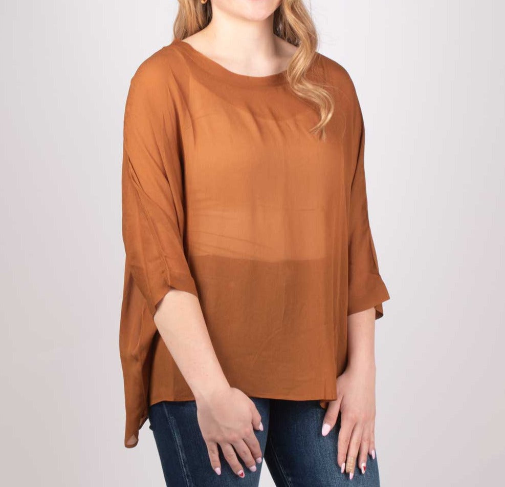 Ochre Drape Blouse WOMEN - Clothing - Tops - Short Sleeved Grade & Gather Teskeys