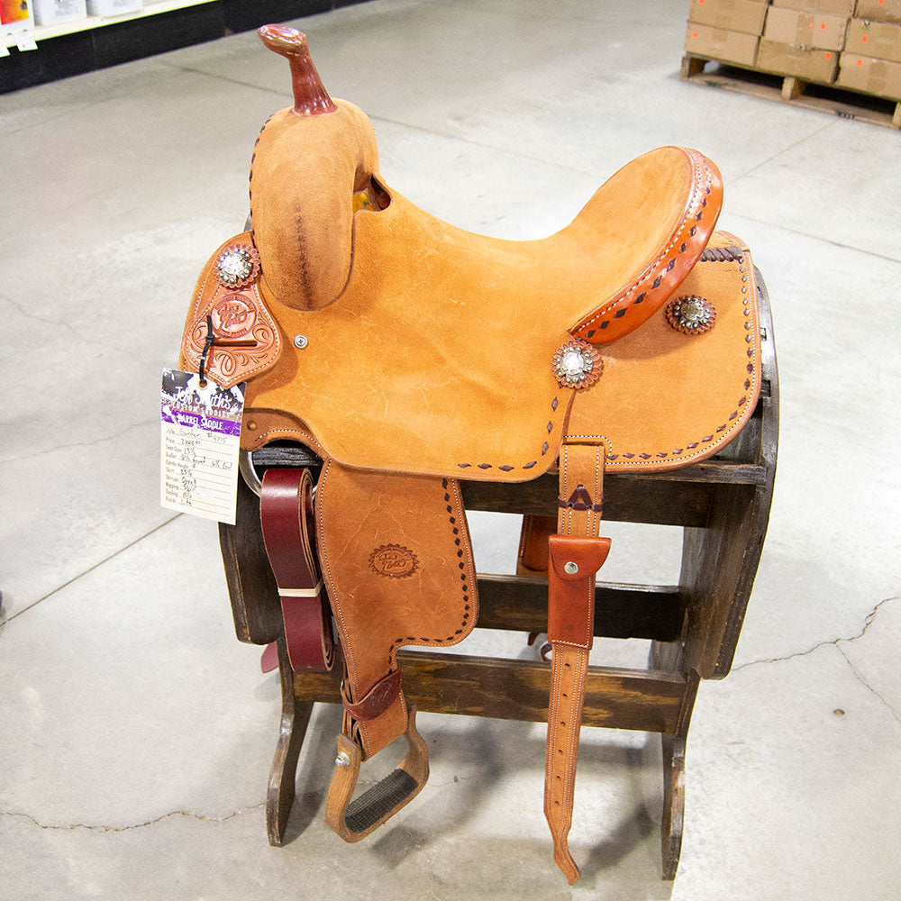 "13.5"" JACKIE GANTER BARREL SADDLE Saddles - New Saddles - BARREL Jeff Smith Teskeys"
