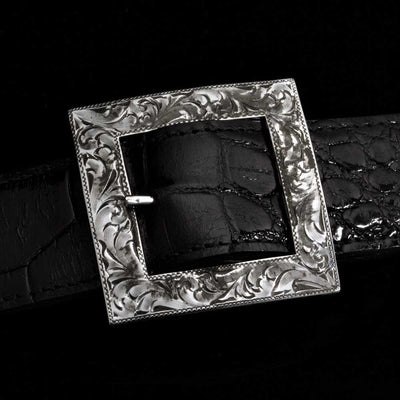 "Comstock Heritage 1.5"" Engraved Garrison Buckle ACCESSORIES - Additional Accessories - Buckles COMSTOCK HERITAGE Teskeys"